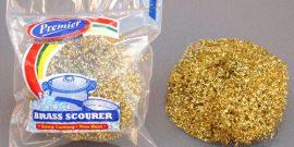 Premier Housewares - BRASS PLATED SCOURER - Product Code 8132