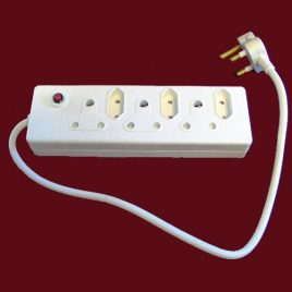 DELUXE 6 WAY ELECTRICAL MULTI ADAPTOR - Product Code 356D