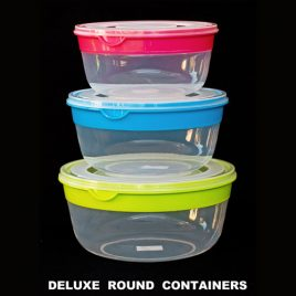 FOOD CONTAINERS DELUXE - ROUND
