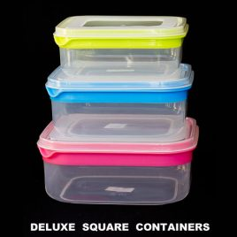 FOOD CONTAINERS DELUXE - SQUARE