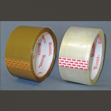 PACKAGING TAPE - CLEAR AND BUFF