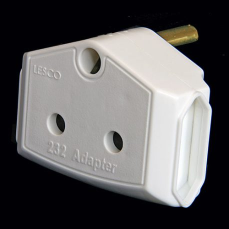 TWO PIN ELECTRICAL ADAPTOR Product Code 354-2PIN