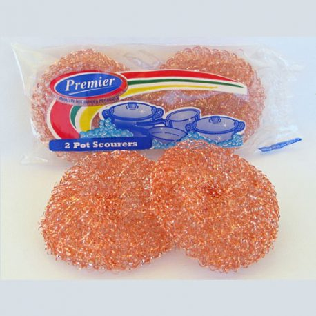 WIRE SCOURERS - 2 PACK COPPER COLOUR -Product Code 8109COP