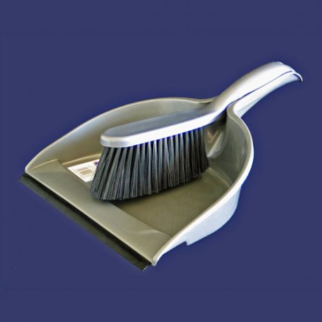 Premiour houseware DUSTPAN & BRUSH SET WITH RUBBER edge - Product Code 4806